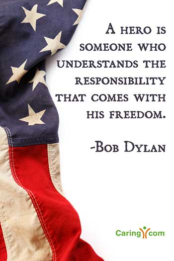 A hero is someone who understands the responsibility